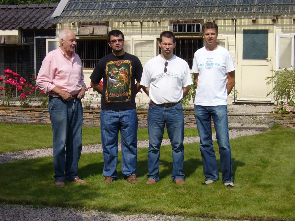 Ries Schalkwijk, me (Trayan Minchev) Wilbert Straub and Gerard Schalkwijk